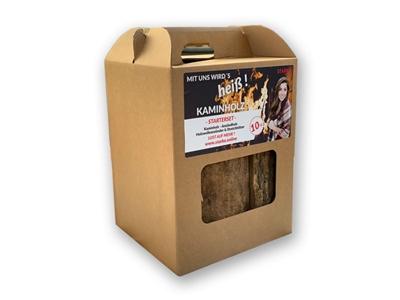 Kaminholz Karton